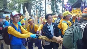 長野県の御柱祭に参加!7年に一度の大祭。初めて参加しましたが、とても感動しました!!