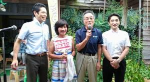 魚沼での集会のあと、上越市へ移動。毎年恒例の焼肉・納涼大会に参加しました!