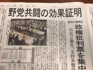 新潟では6選挙区中4つで野党共闘が勝利!