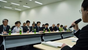党新潟県委員会の皆さんの政府交渉に同席