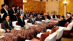 国家基本政策委員会の衆参合同幹事会に出席