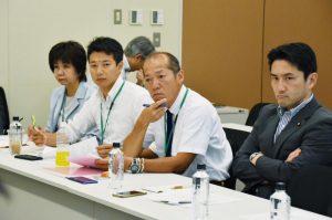 福井県の野党統一候補の山田かずおさん、佐藤県議、各市議の皆さんと政府交渉