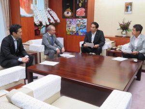 豚コレラ対策での農水大臣申し入れを終えて、長野県へ。