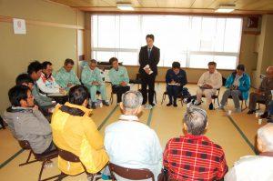 台風19号で千曲川が決壊した長野市穂保で住民懇談会