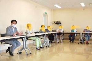 長野県松本市 女性後援会、生活と健康を守る会の党後援会、業者後援会、若者と懇談