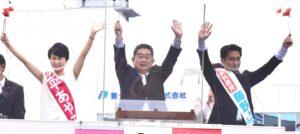 新潟県新潟市 小池晃書記局長を迎えて街頭演説会 / 市内でつどい