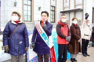長野県 善光寺前2021年新春街宣