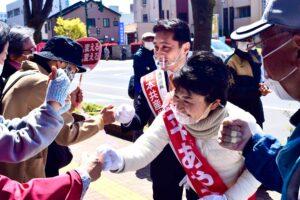 総選挙に向けた新潟市キャラバン宣伝