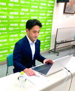 長野県民医連党後援会と長野県労働者党後援会で決意表明